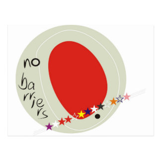 No barriers postcard