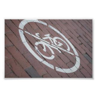 No Bicycles Photo Print