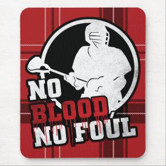 No Blood No Foul Lacrosse Mousemat