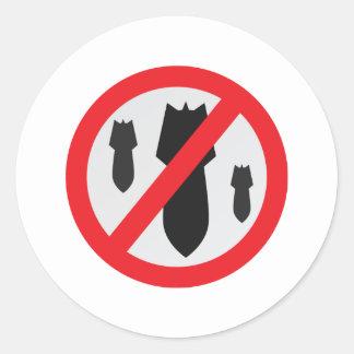 No Bombs - Peace Round Sticker