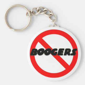 No Boogers Key Ring