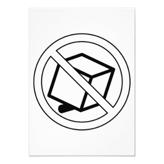 No Boxes Symbol Invitations