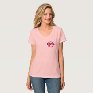 NO BOZOS - woman's v-neck -offset T-Shirt