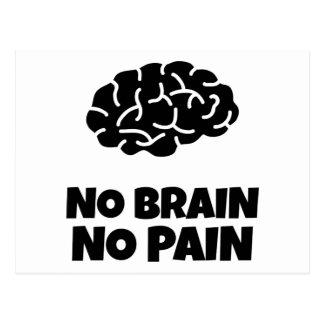 No Brain No Pain Postcard