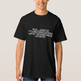 No Budget Film Credits T-Shirt