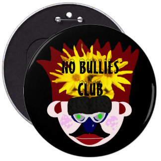 No Bullies Club Mr. Rudy Man's Crown Face 6 Cm Round Badge