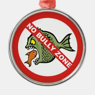 No Bully Zone Metal Ornament