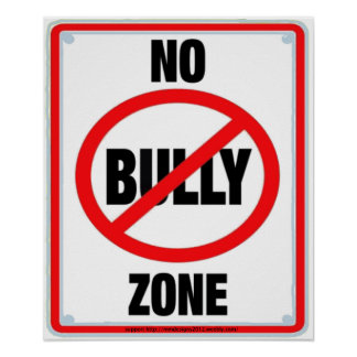 no bullying zone2a poster