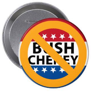 NO BUSH CHENEY 10 CM ROUND BADGE