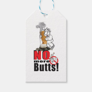 NO BUTTS - Stop Smoking Gift Tags