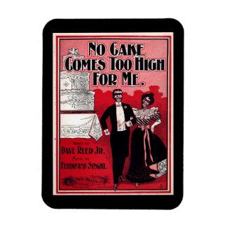 No Cake Comes Too High, Sheet Music 1899 Vintage Rectangular Photo Magnet