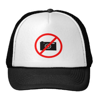 No Cameras Allowed, no pictures, don't take photos Cap