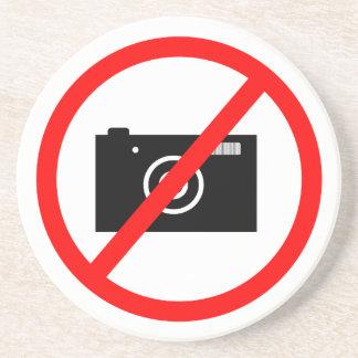 No Cameras Allowed, no pictures, don't take photos Coaster