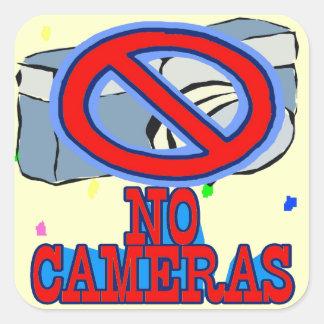 No Cameras Sign Square Stickers