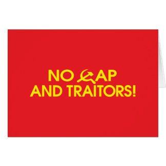 No Cap And Traitors Cards