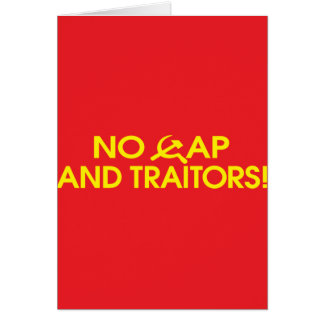No Cap And Traitors Greeting Cards