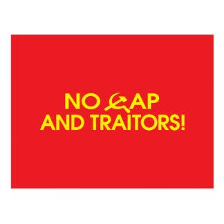 No Cap And Traitors Post Card