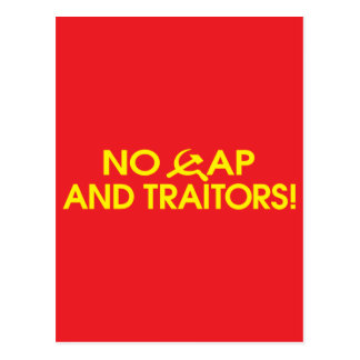No Cap And Traitors Postcard