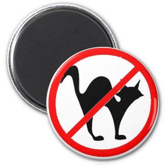 No Cats?! 6 Cm Round Magnet