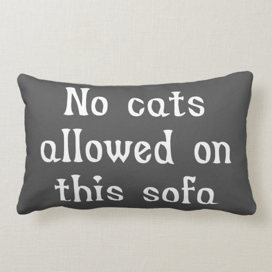 No Cats Allowed on this Sofa Lumbar Cushion