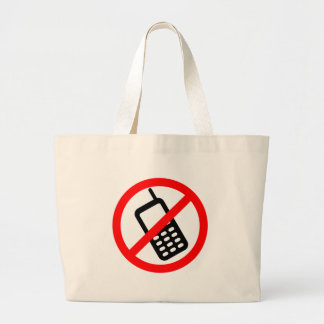 No Cell Phone Large Tote Bag