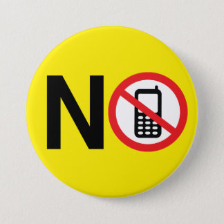No Cell Phones Button