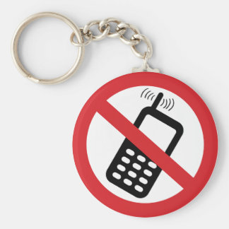 No Cell Phones Keychains