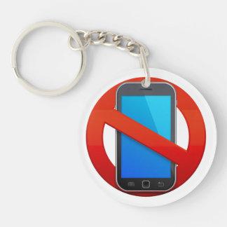 NO CELL PHONES Keychain - SRF