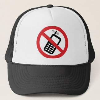 No Cell Phones Trucker Hat