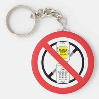 NO Cell Phones While Driving - Key Chain