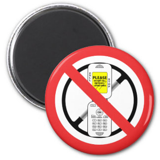 NO Cell Phones While Driving - Magnet
