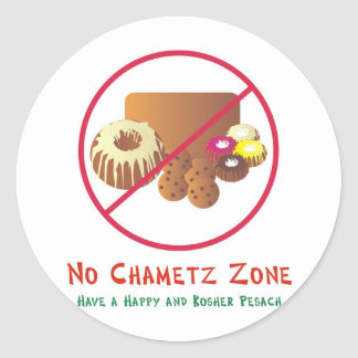 No Chametz Zone Classic Round Sticker