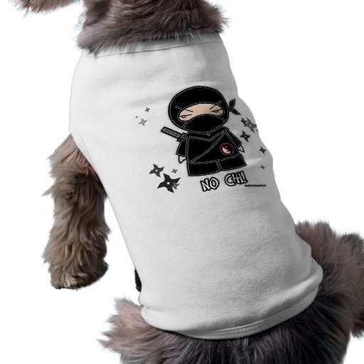 No Chi! Ninja With Shurikens Pet Clothing