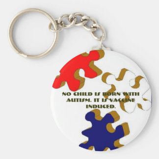 No Child Is Born With Autism. It I... - Customized Basic Round Button Key Ring