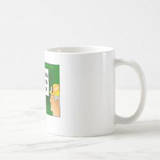 No Cigarettes for Miners Cartoon Mug