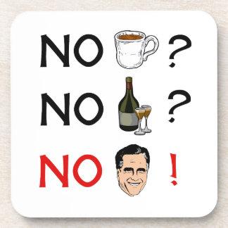 No Coffee No Alcohol No Romney.png Drink Coaster