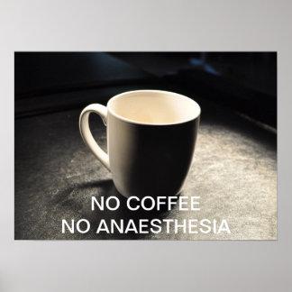 NO COFFEE NO ANAESTHESIA POSTER