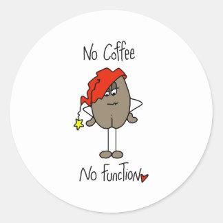 No Coffee No Function Round Sticker