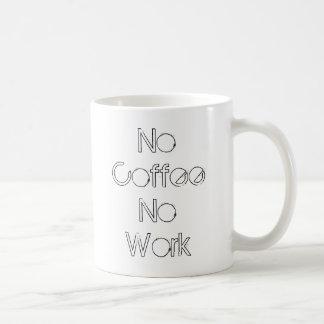 No Coffee No Work Coffee Mug
