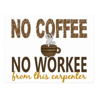 No Coffee No Workee Carpenter Postcard