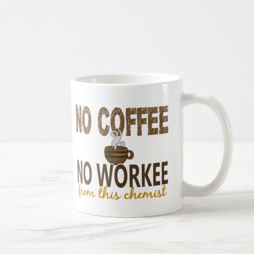No Coffee No Workee Chemist Coffee Mugs