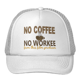 No Coffee No Workee Film Producer Mesh Hat