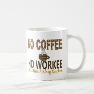 No Coffee No Workee History Teacher Coffee Mug
