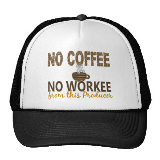 No Coffee No Workee Producer Mesh Hat