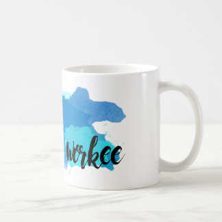 No Coffee No Workee Watercolor Coffee Mug