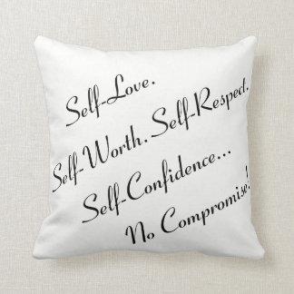 "No Compromise ""16x16"" Throw Pillow - P1"