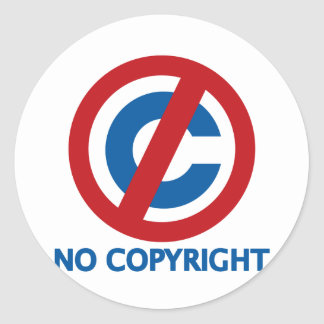 No Copyright Classic Round Sticker