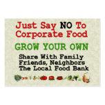 No Corporate Food