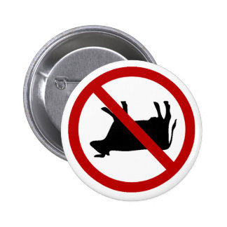 NO Cow Tipping! 6 Cm Round Badge