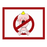 NO CRY BABIES POST CARD